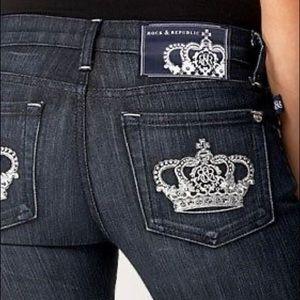 Victoria Beckham for Rock & Republic Black Jeans 28